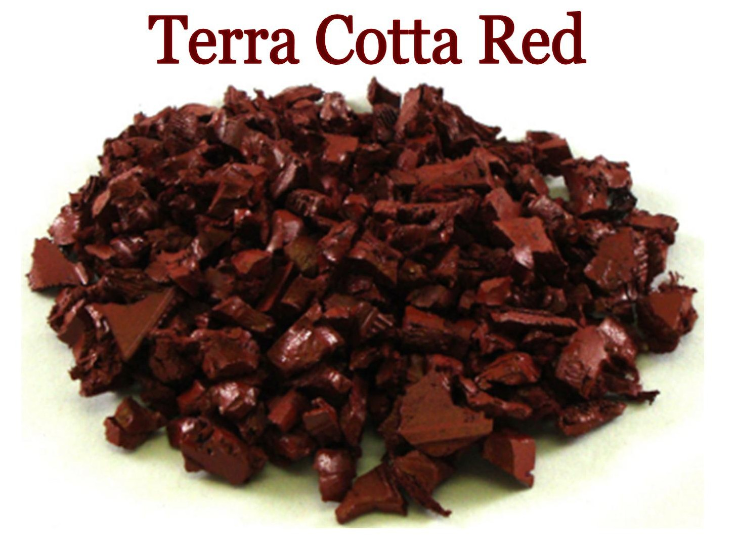 pic of terra cotta red rubber playground mulch