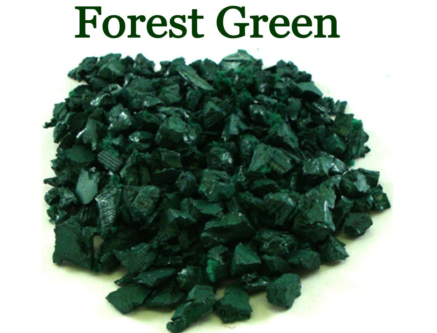 pic of forest green rubber playground mulch